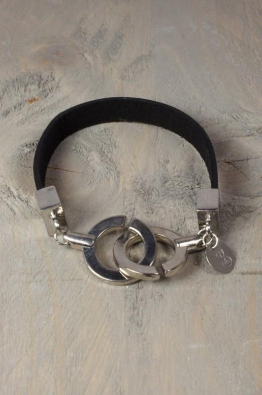 Lederen armband met schuifsluiting