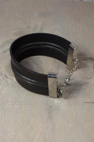 Brede Lederen Armband